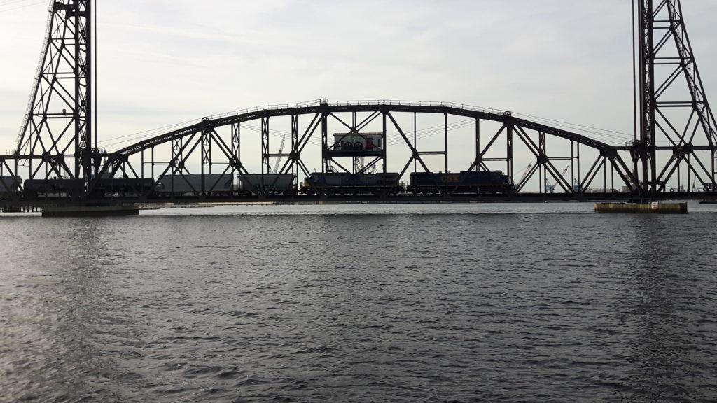 Train-over-bridge